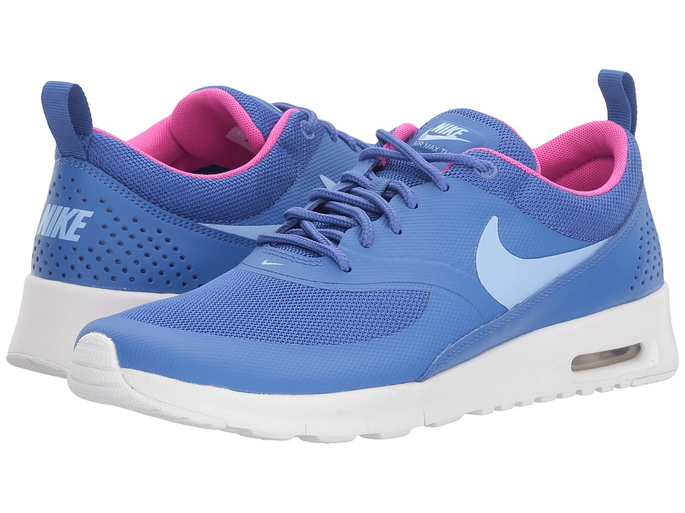 Nike Kids Air Max Thea (Big Kid) (Comet Blue/Aluminum/White/Fire Pink) Girls Shoes