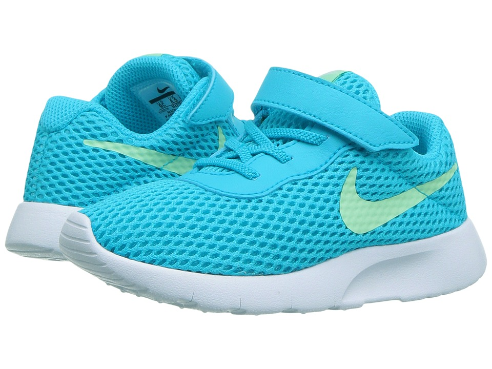 Nike Kids Tanjun BR HL (Infant/Toddler) (Chlorine Blue/Fresh Mint/White) Girls Shoes