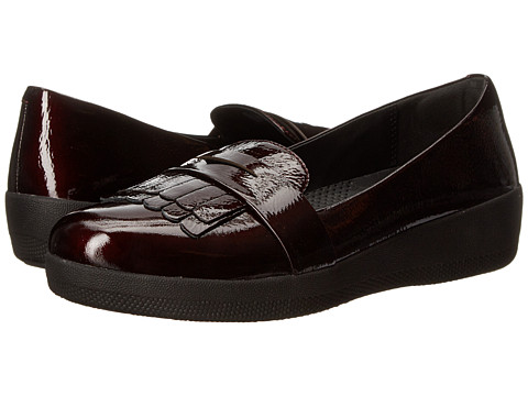 FitFlop Fringey Sneaker Loafer - Dark Cherry