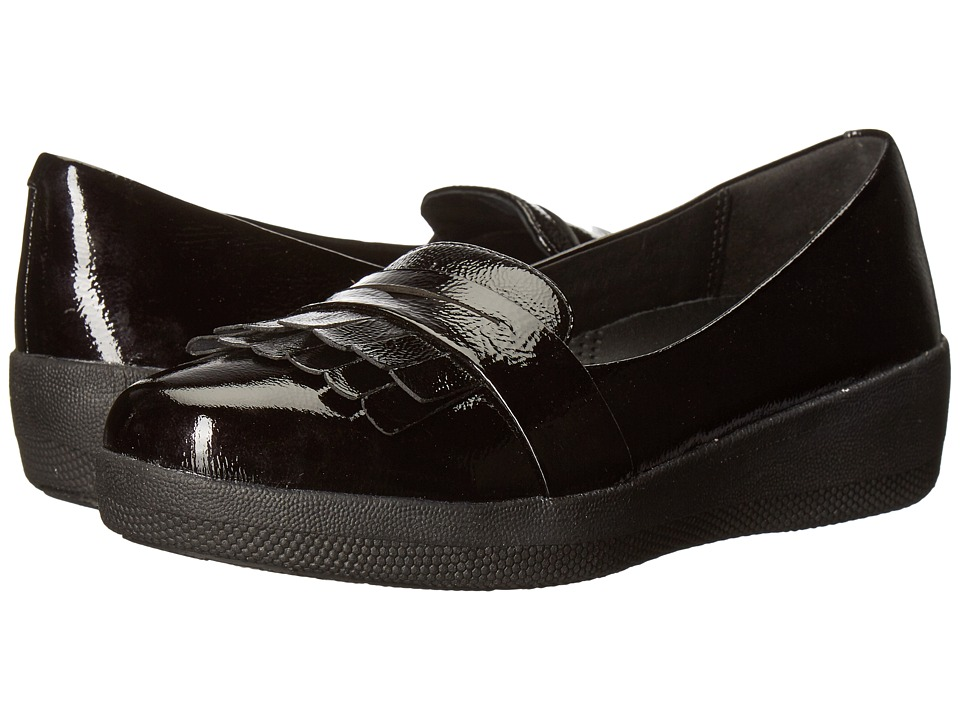 FitFlop Fringey Sneaker Loafer (All Black 2) Women