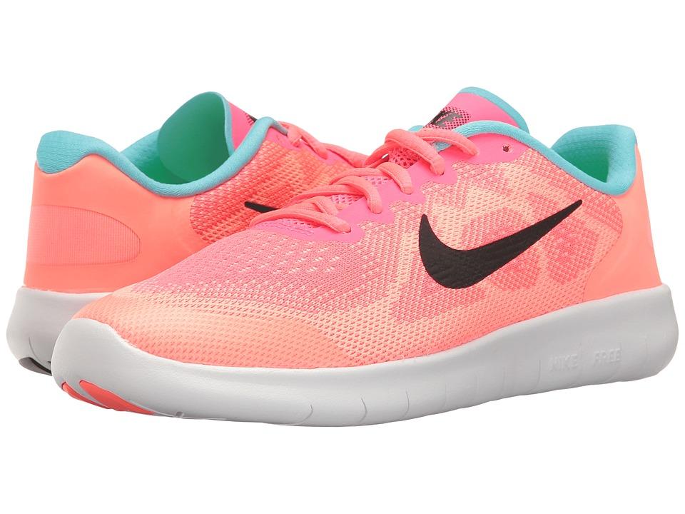 Nike Kids Free RN 2017 (Big Kid) (Racer Pink/Black/Lava Glow/Pure Platinum) Girls Shoes