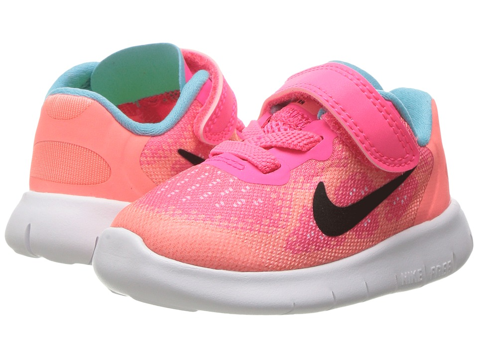Nike Kids Free RN 2017 (Infant/Toddler) (Racer Pink/Black/Lava Glow/Pure Platinum) Girls Shoes