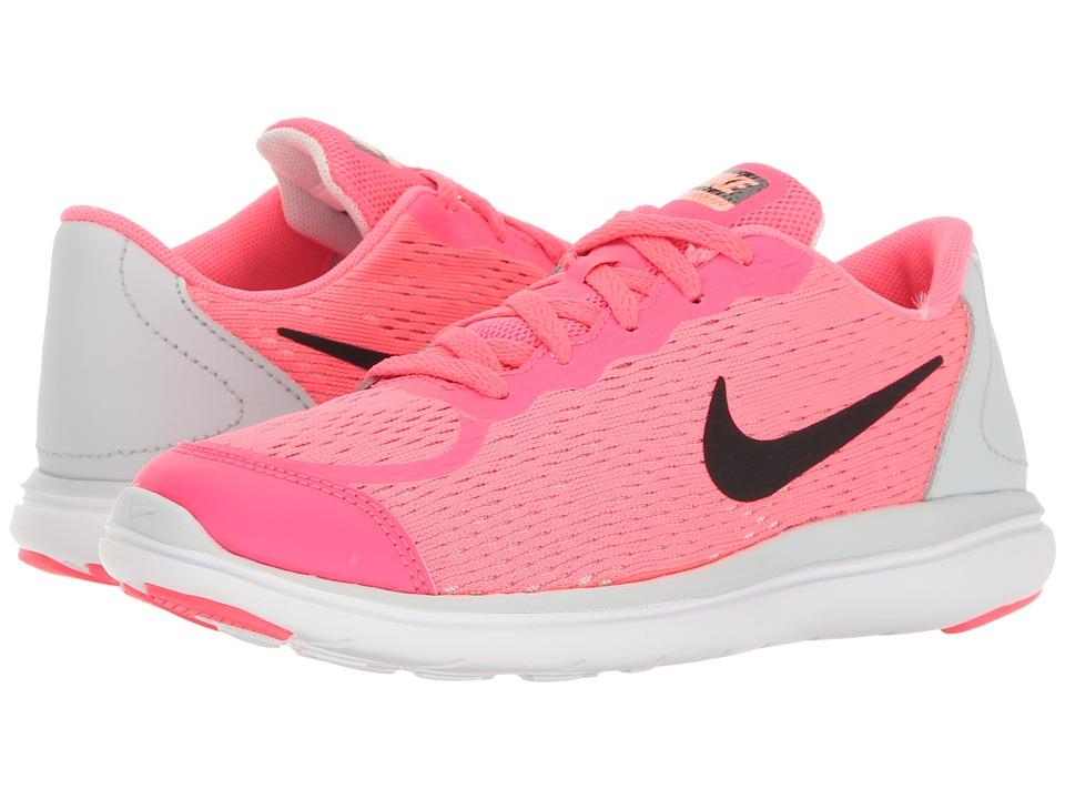 Nike Kids Flex RN 2017 (Little Kid) (Racer Pink/Black/Pure Platinum) Girls Shoes