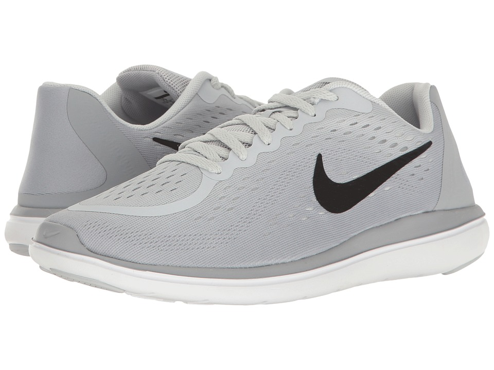 Nike Kids Flex RN 2017 (Big Kid) (Pure Platinum/Black/Wolf Grey/Cool Grey) Girls Shoes