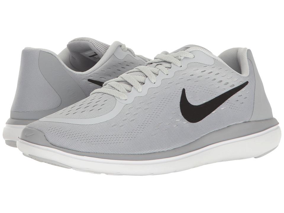 Nike Kids Flex RN 2017 (Big Kid) (Pure Platinum/Black/Wolf Grey/Cool Grey) Girls Shoes