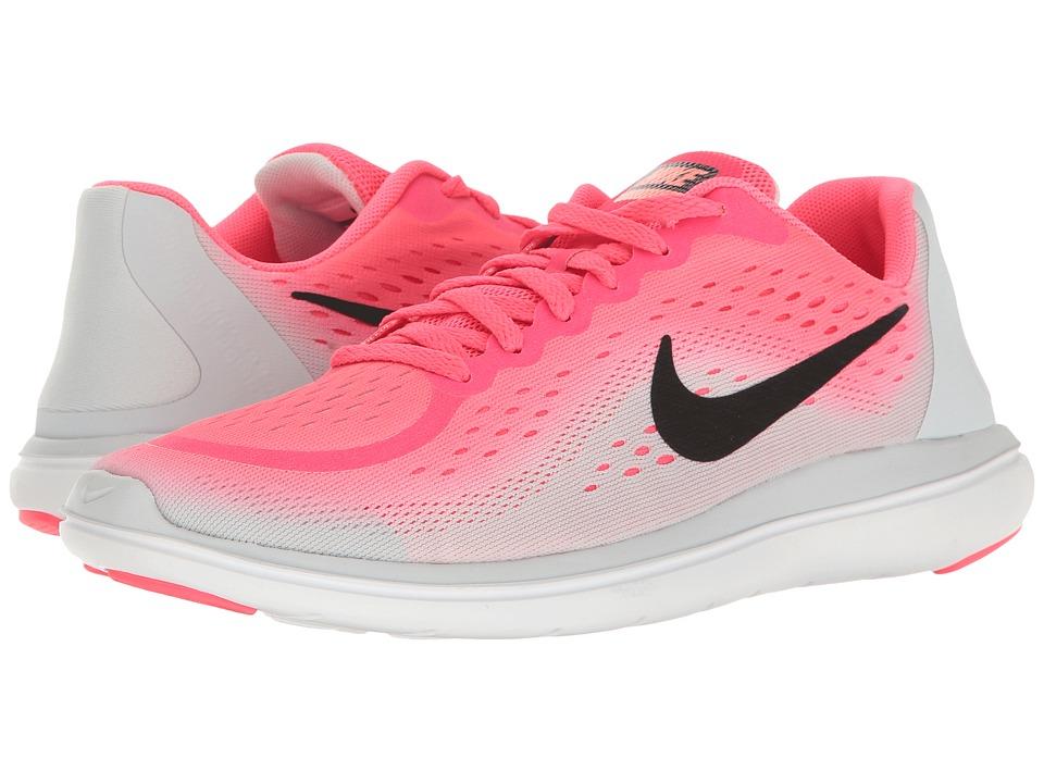 Nike Kids Flex RN 2017 (Big Kid) (Racer Pink/Black/Pure Platinum/Lava Glow) Girls Shoes