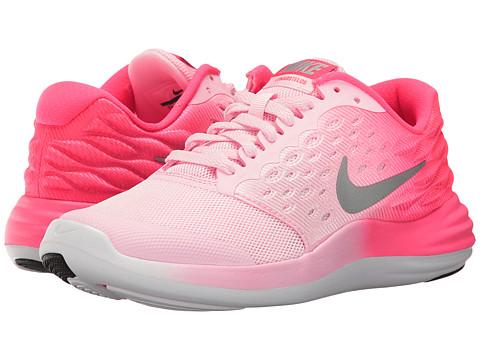 Nike Kids Lunastelos (Big Kid) - Prism Pink/Metallic Silver/Racer Pink