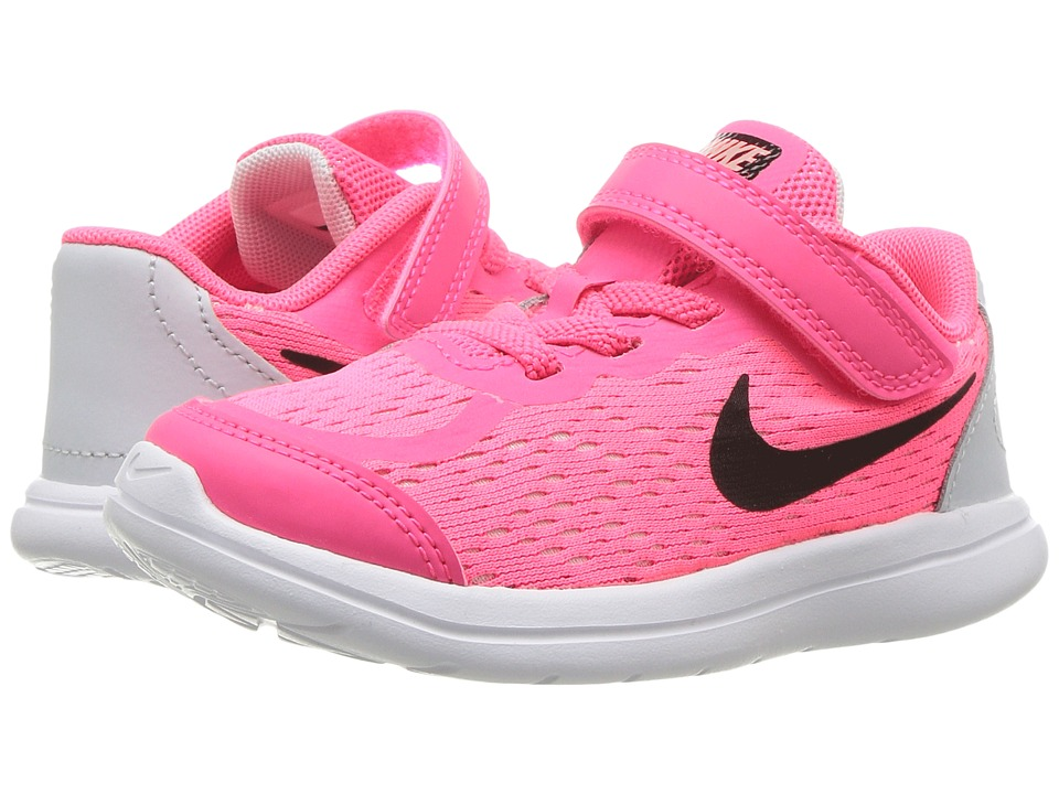Nike Kids Free RN Sense (Infant/Toddler) (Racer Pink/Black/Pure Platinum/Lava Glow) Girls Shoes