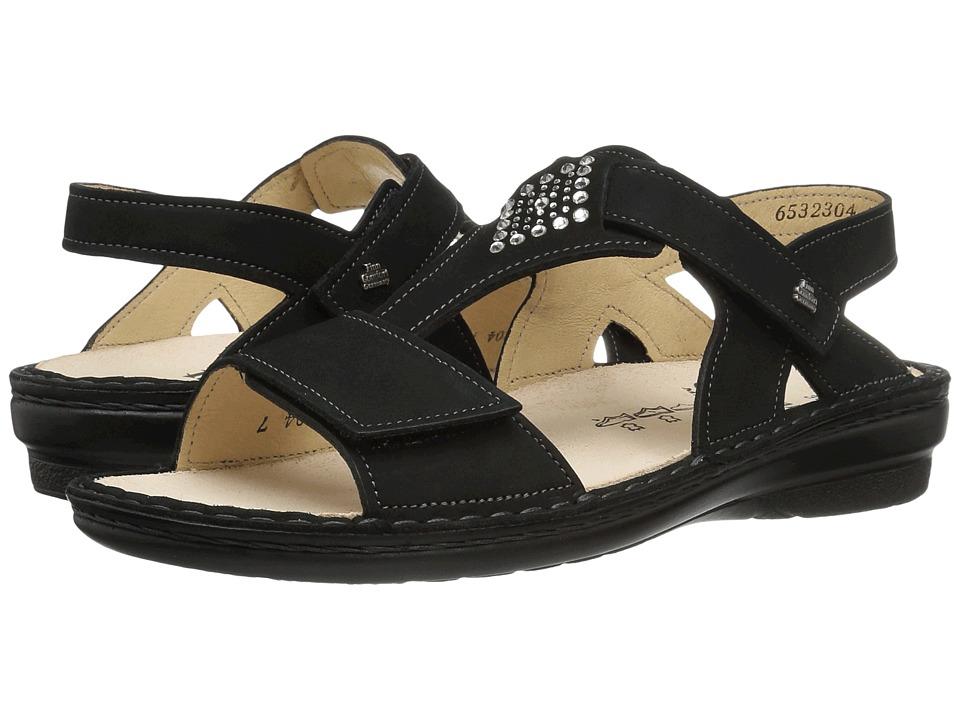Finn Comfort - Calvia (Black Nubuck) Women's Sandals