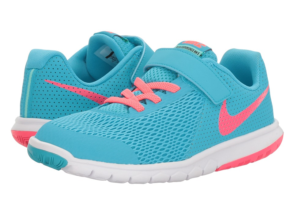 Nike Kids Flex Experience 5 (Little Kid) (Chlorine Blue/Racer Pink/Hyper Turquoise) Girls Shoes