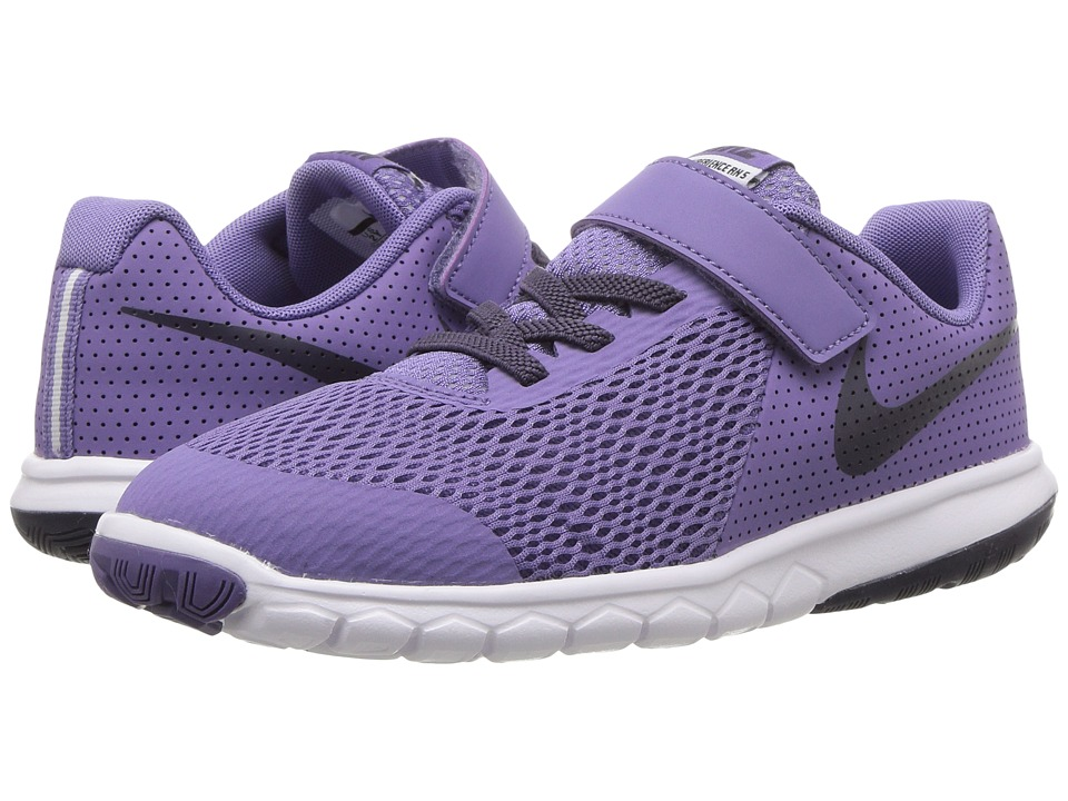 Nike Kids Flex Experience 5 (Little Kid) (Purple Earth/Dark Raisin/White) Girls Shoes