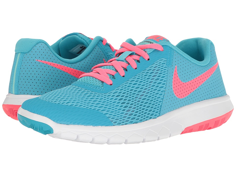 Nike Kids Flex Experience 5 (Big Kid) (Chlorine Blue/Racer Pink/Hyper Turquoise) Girls Shoes