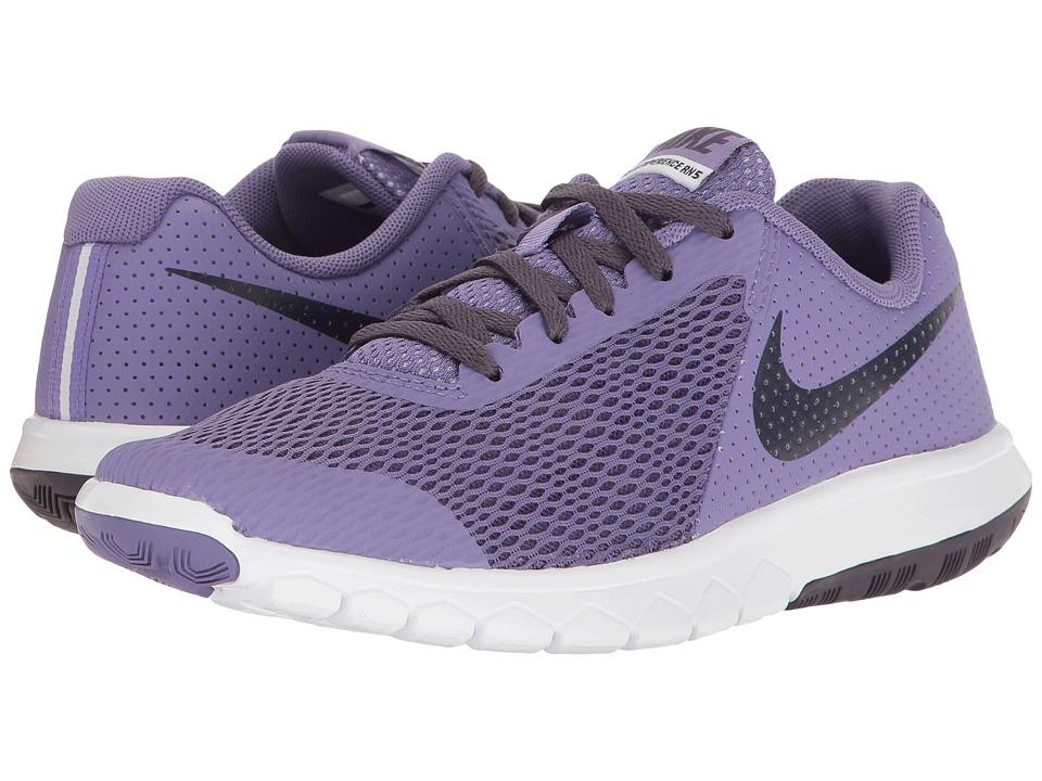 Nike Kids Flex Experience 5 (Big Kid) (Purple Earth/Dark Raisin/White) Girls Shoes