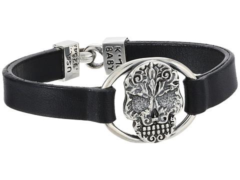 King Baby Studio Baroque Skull Centerpiece Bracelet - Black