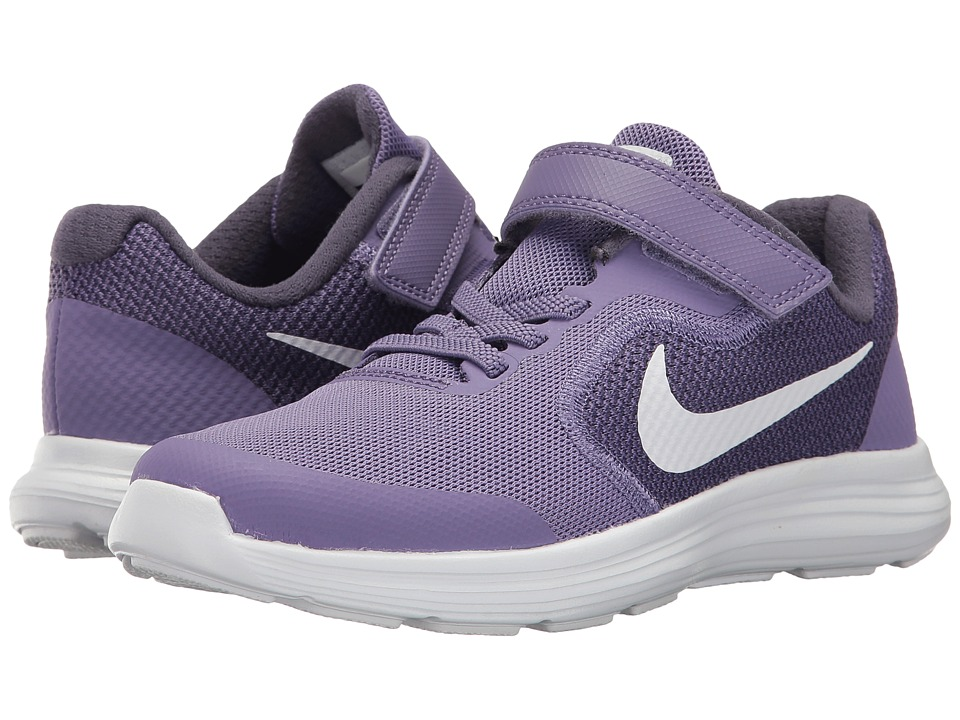 Nike Kids Revolution 3 (Little Kid) (Purple Earth/Metallic Silver/Dark Raisin) Girls Shoes