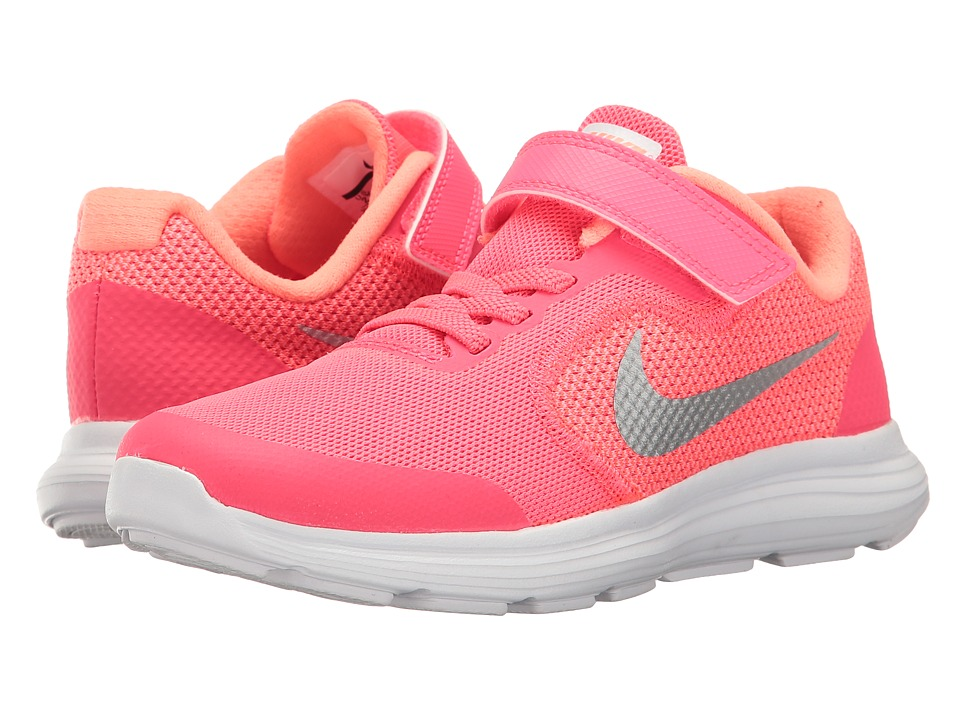 Nike Kids Revolution 3 (Little Kid) (Racer Pink/White/Lava Glow) Girls Shoes