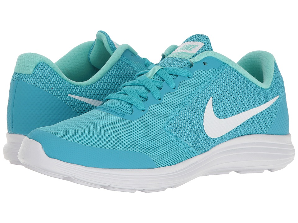 Nike Kids Revolution 3 (Big Kid) (Chlorine Blue/White/Hyper Turquoise) Girls Shoes
