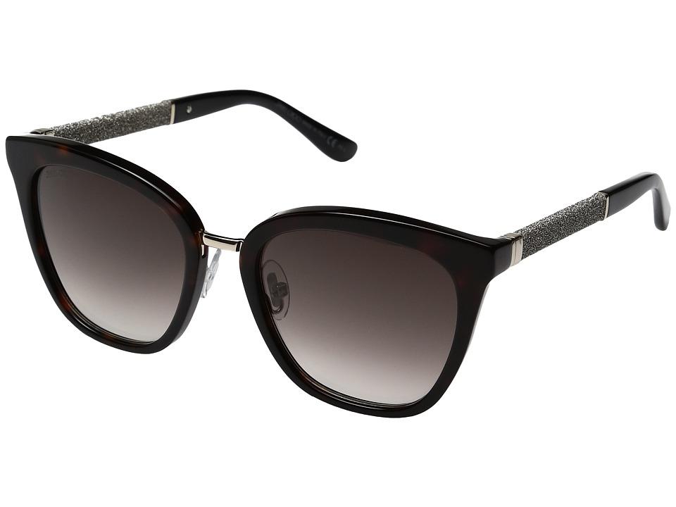 Jimmy Choo - Fabry/S (Havana/Brown Gradient Lens) Fashion Sunglasses