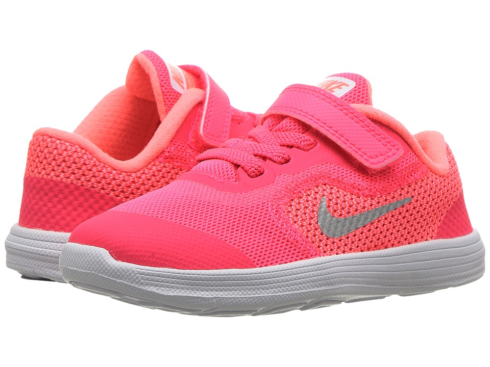 Nike Kids Revolution 3 (Infant/Toddler) (Racer Pink/White/Lava Glow) Girls Shoes