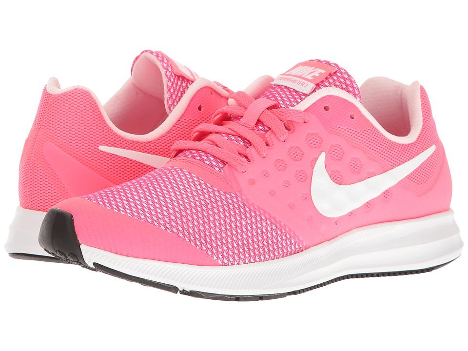 Nike Kids Downshifter 7 (Big Kid) (Racer Pink/White/Prism Pink/Black) Girls Shoes