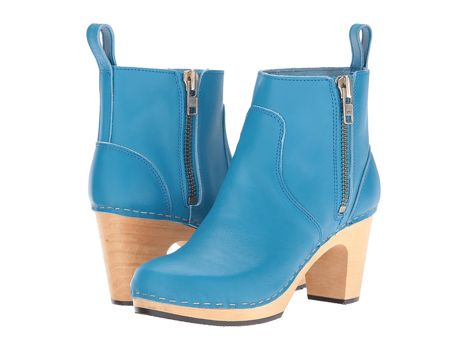 Swedish Hasbeens Zip It Super High (New Turquoise) Women