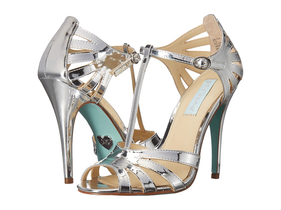 Blue by Betsey Johnson Tee (Silver Foil) High Heels
