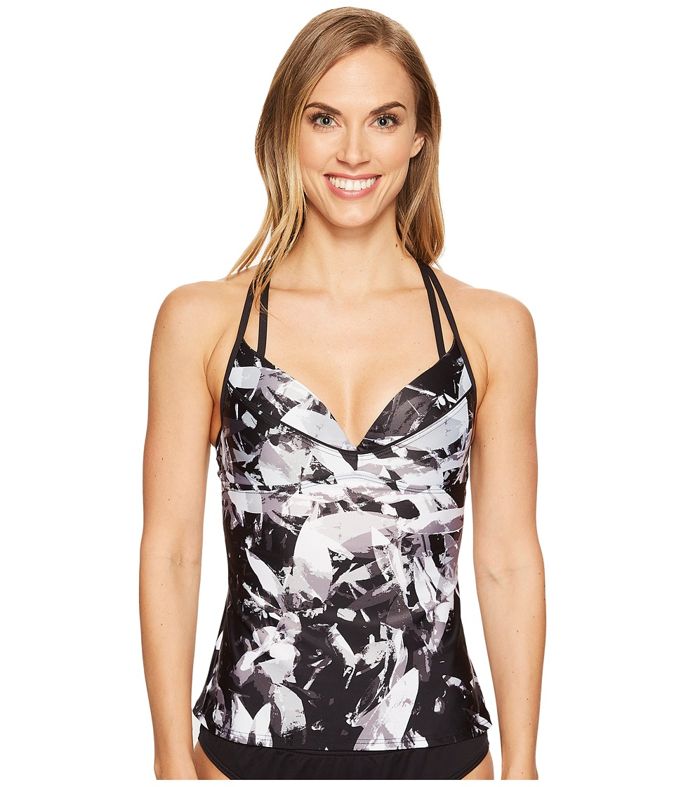 Lole Argentina Tankini Top (Black Graffiti) Women