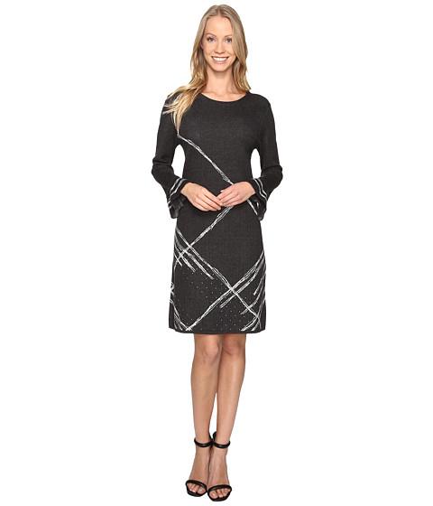 NIC+ZOE Checked Cuff Dress - Multi