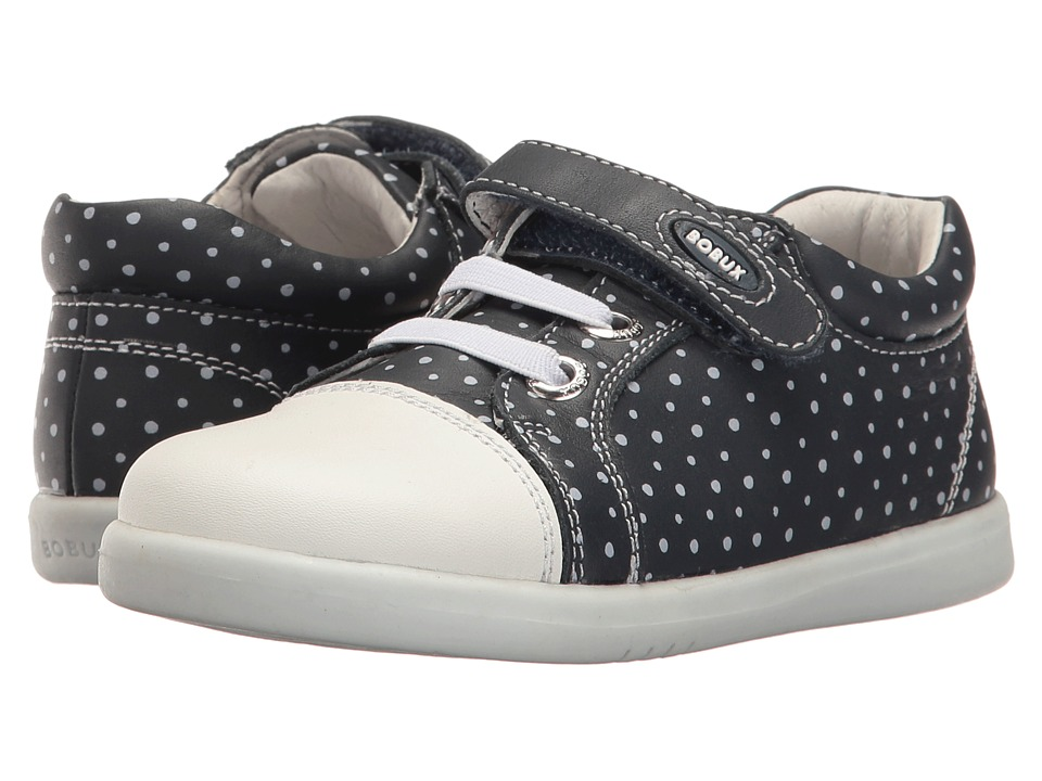Bobux Kids I-Walk Classic Trouble (Toddler) (Navy/White Dots) Girl's Shoes