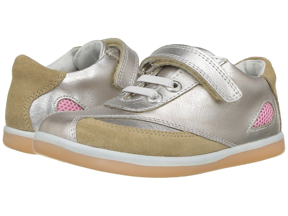 Bobux Kids I-Walk Classic Shimmer (Toddler) (Molten Gold) Girl's Shoes