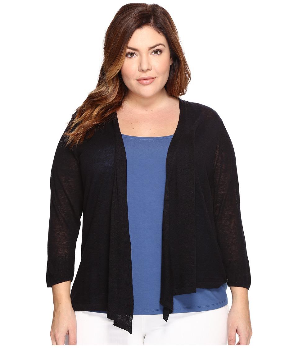 Nic+Zoe Plus Size 4-Way Cardy (Midnight) Women's Sweater
