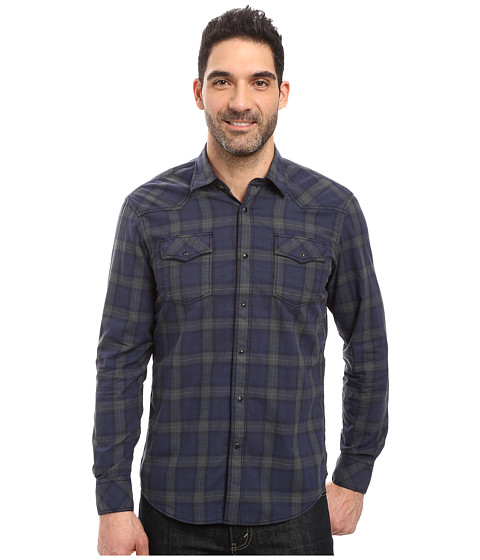 James Campbell Long Sleeve Woven Scot Vaquero - Forest