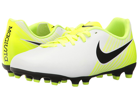 Nike Kids Jr Magista Ola II FG Soccer (Little Kid/Big Kid) - White/Black/Volt/Pure Platinum