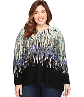 NIC+ZOE - Plus Size Glowing Edge Top
