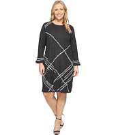 NIC+ZOE - Plus Size Checked Cuff Dress