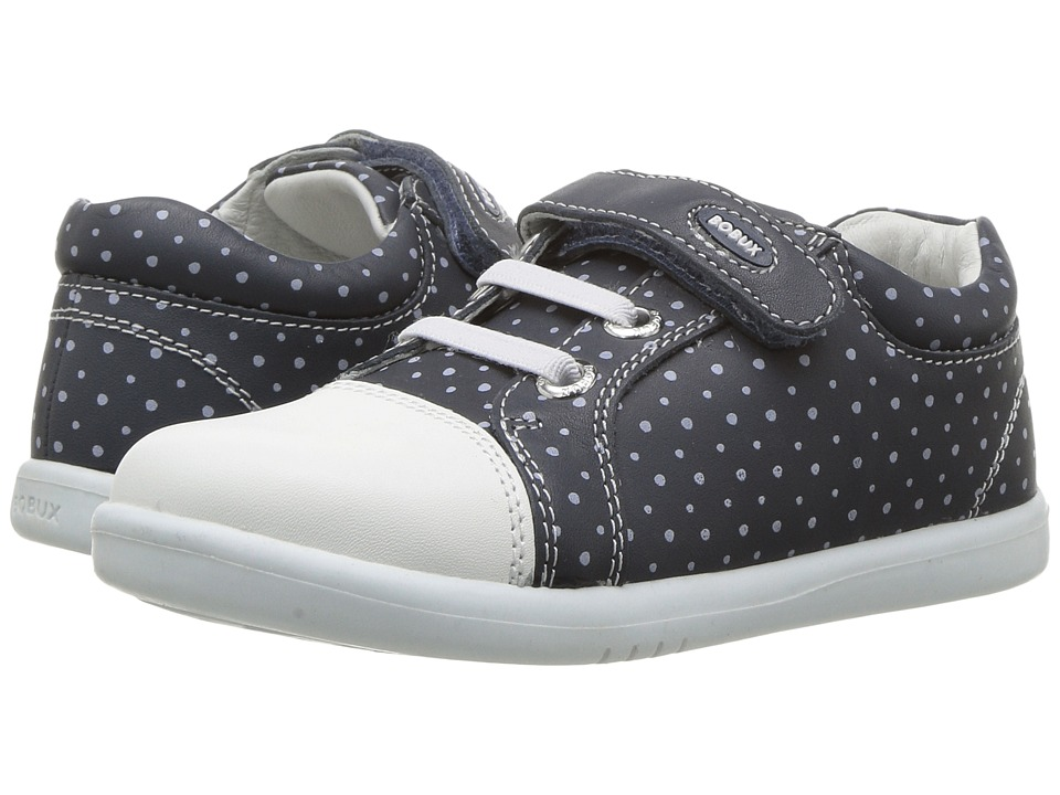 Bobux Kids Kid+ Classic Rascal (Toddler/Little Kid) (Navy/White Dots) Girl's Shoes