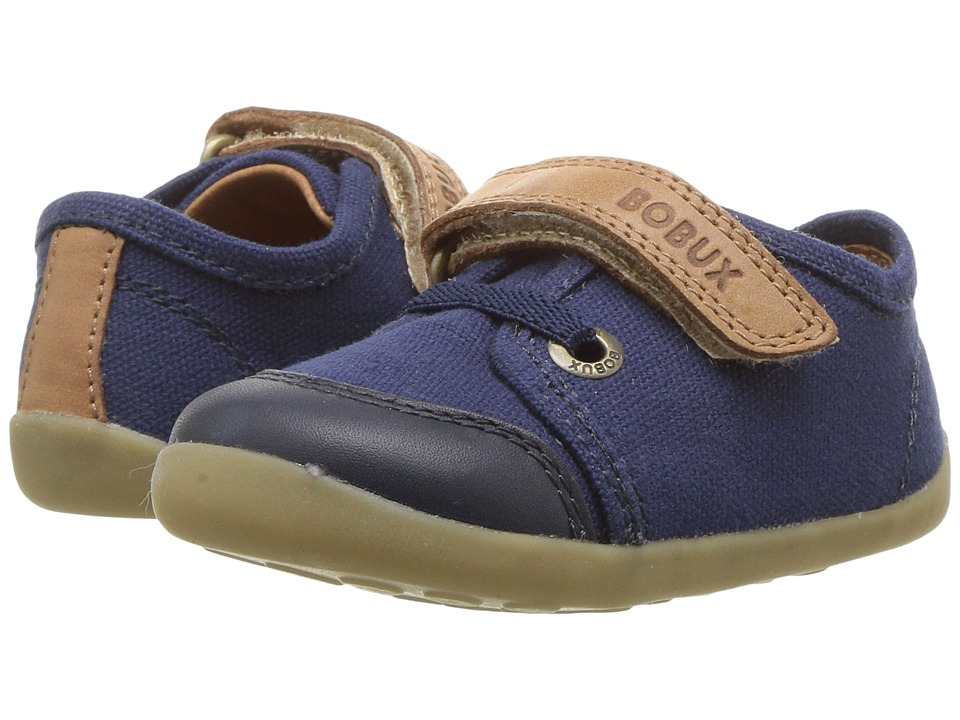 Bobux Kids Step Up Classic Leisure (Infant/Toddler) (Navy/Caramel) Boy's Shoes