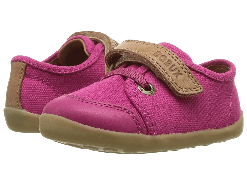 Bobux Kids Step Up Classic Leisure (Infant/Toddler) (Fuchsia/Caramel) Girl's Shoes