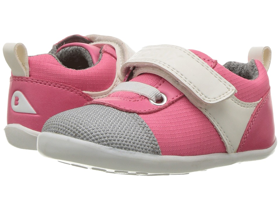 Bobux Kids Step Up Street Edge (Infant/Toddler) (Fuchsia/White) Girl's Shoes