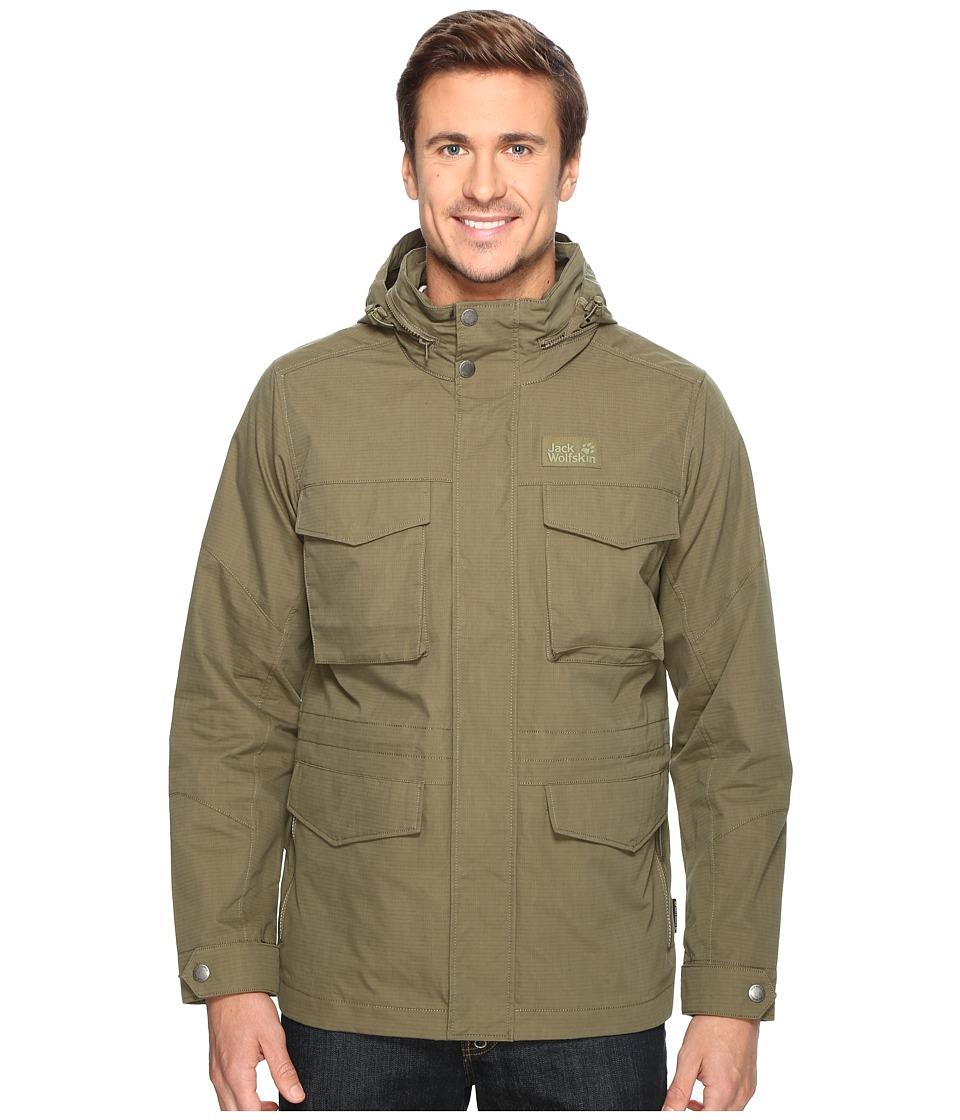 Jack Wolfskin - Freemont Field Jacket (Burnt Olive) Mens Coat