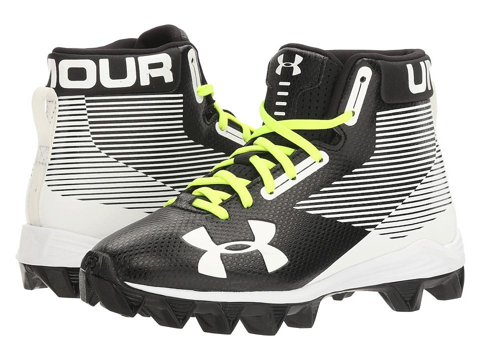 Under Armour Kids UA Hammer Mid RM Jr. Football (Little Kid/Big Kid) (Black/White) Boys Shoes
