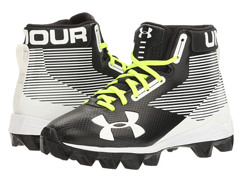Under Armour Kids UA Hammer Mid RM Jr. Football (Little Kid/Big Kid) - Black/White
