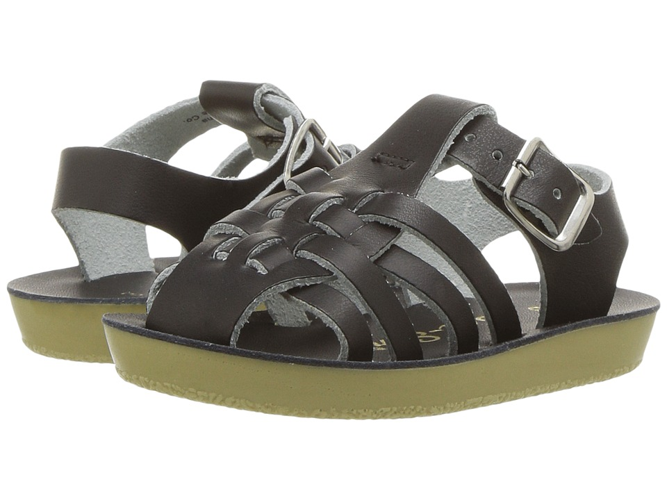 Salt Water Sandals Sun-San Sailors (Infant/Toddler) (Black) Kids Shoes