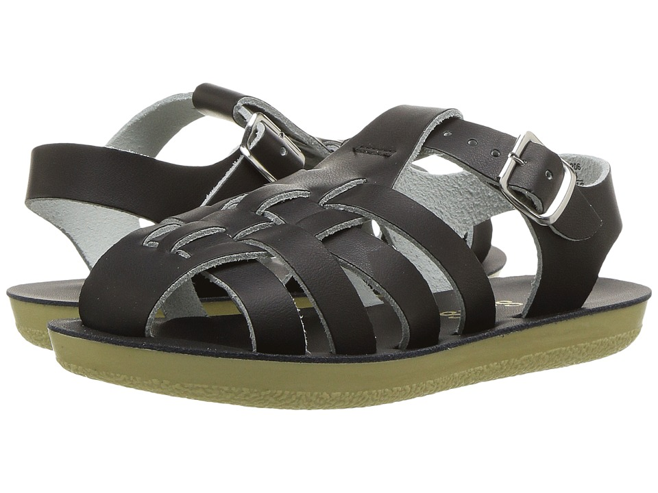 Salt Water Sandals Sun-San Sailors (Toddler/Little Kid) (Black) Kids Shoes