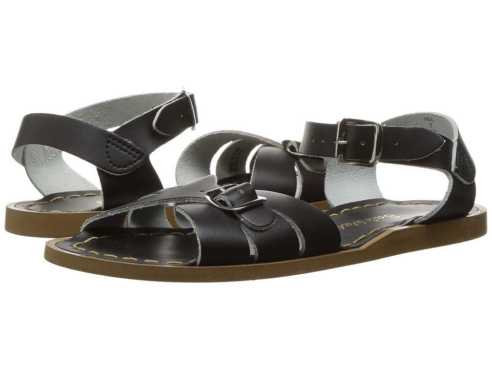 Salt Water Sandals Classic (Little Kid) (Black) Girls Shoes