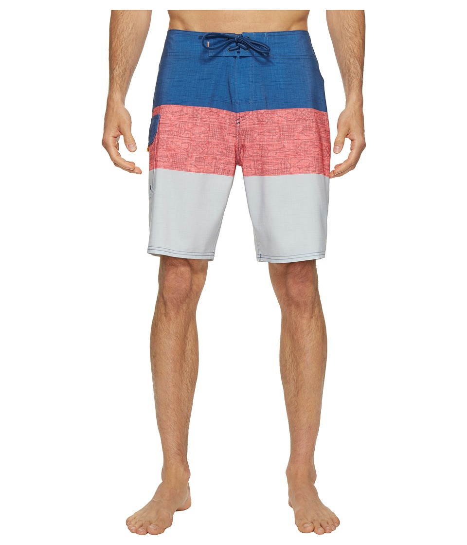 Quiksilver Waterman Fairway Tri Block Boardshorts (White) Men