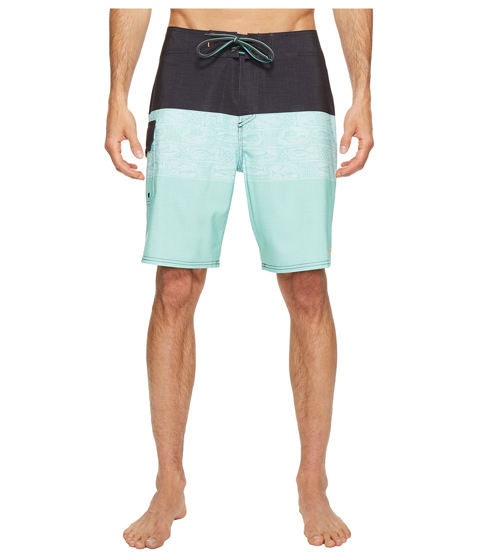 Quiksilver Waterman Fairway Tri Block Boardshorts (Lichen) Men