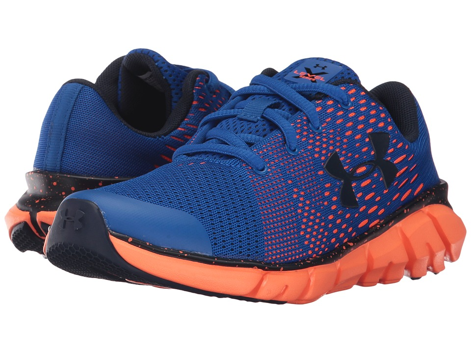 Under Armour Kids UA BPS X Level Scramjet LTW (Little Kid) (Ultra Blue/Magma Orange/Midnight Navy) Boys Shoes