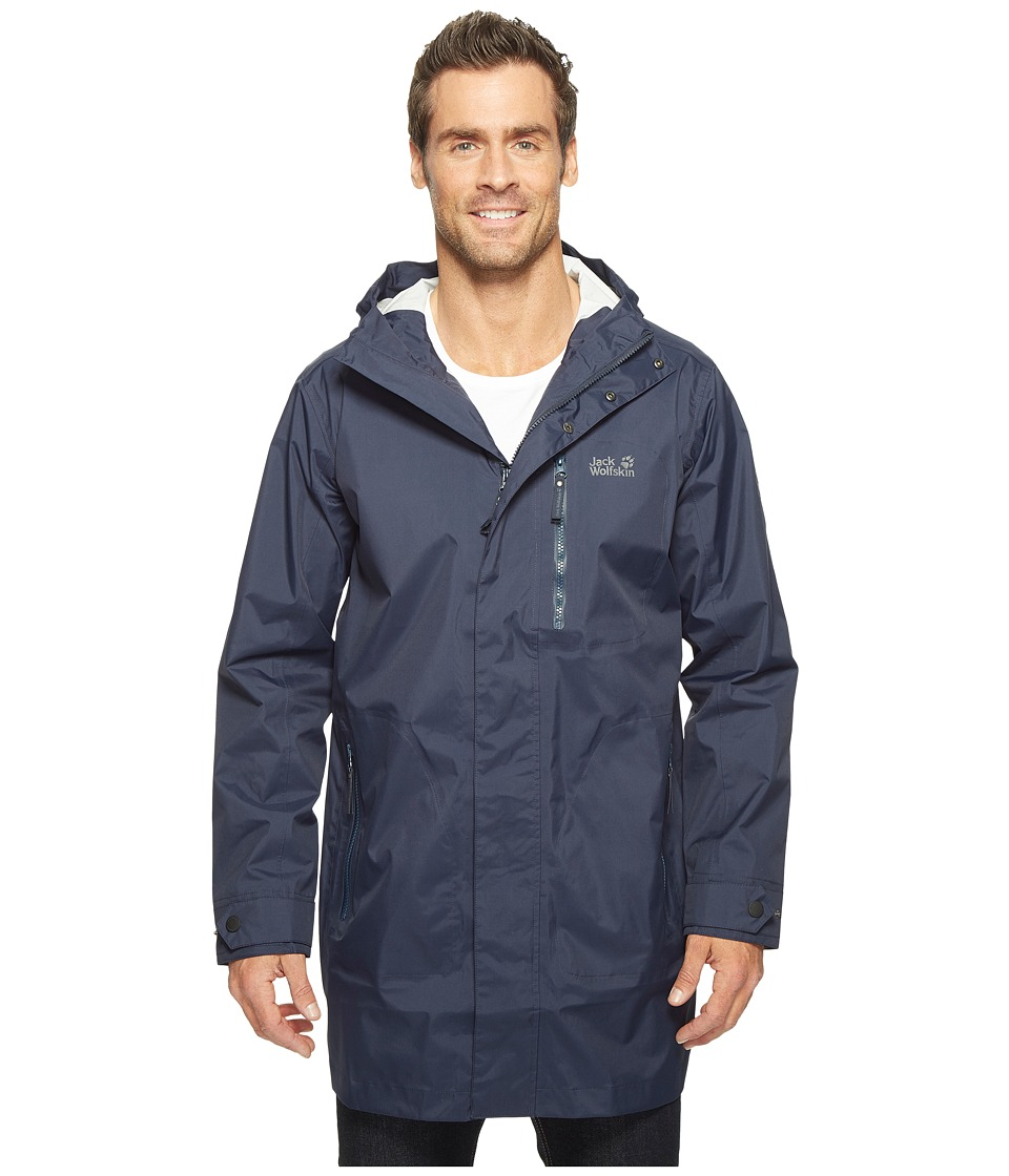 Jack Wolfskin Crosstown Raincoat (Night Blue) Men
