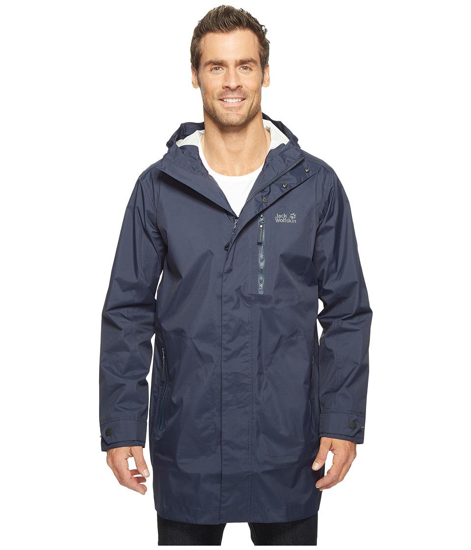 Jack Wolfskin Crosstown Raincoat (Night Blue) Men's Coat